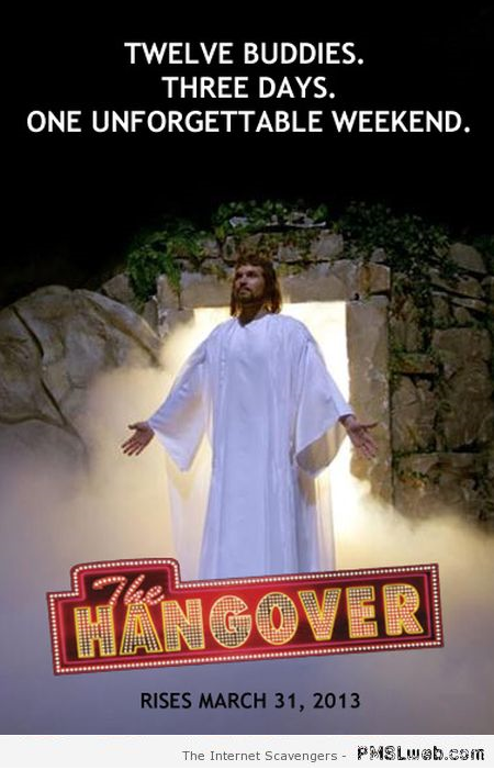 Funny Jesus hangover movie at PMSLweb.com