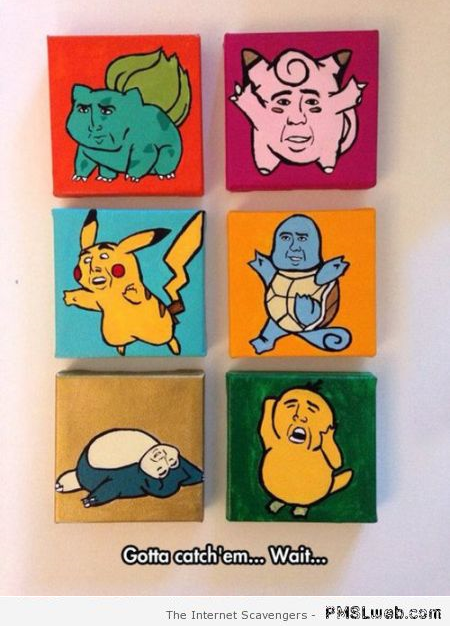 Funny Nicolas Cage Pokemons – Tuesday hilarity at PMSLweb.com
