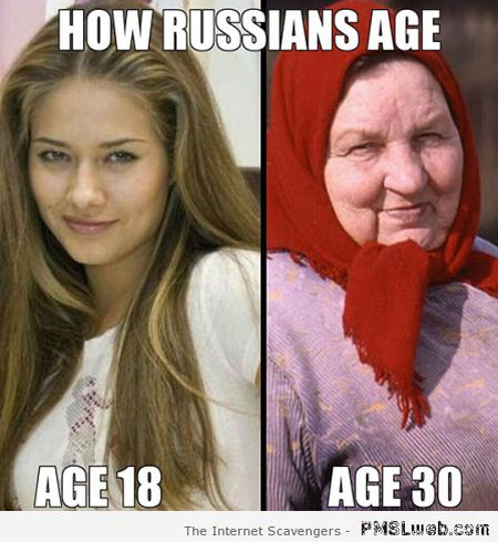 How Russians age meme at PMSLweb.com
