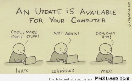 An update is available computer humor at PMSLweb.com