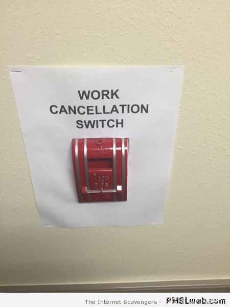 Funny work cancellation switch at PMSLweb.com