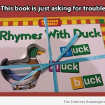 This book is asking for trouble meme at PMSLweb.com