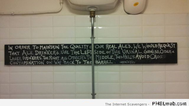 Urinal humor at PMSLweb.com