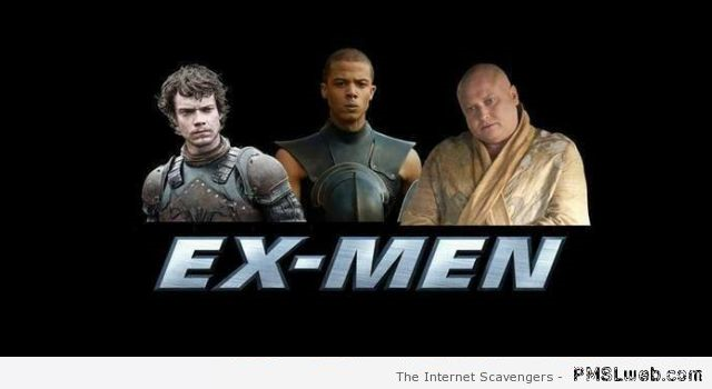 Game of Thrones X-men humor at PMSLweb.com