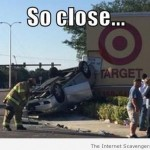 Target sign accident humor at PMSLweb.com