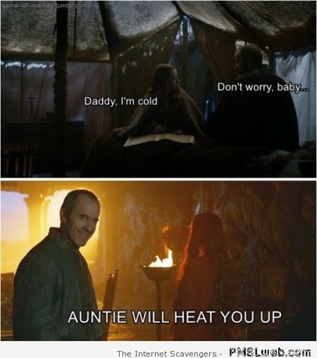 Stannis Baratheon reassures his daughter humor at PMSLweb.com