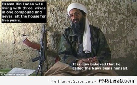 Funny Osama bin laden called the navy seals himself at PMSLweb.com