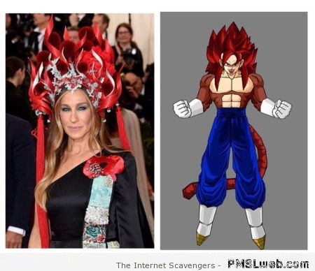 Funny Sarah Jessica Parker in Dragon ball at PMSLweb.com