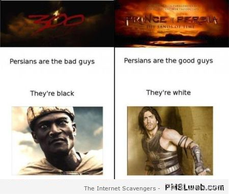 Funny Persians white and black logic at PMSLweb.com