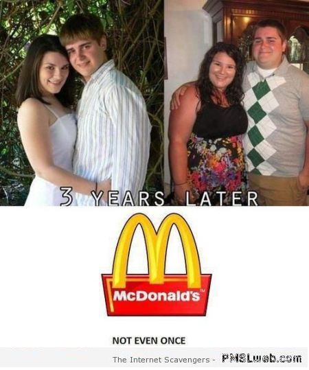 McDonalds not even once humor – Hump day BS at PMSLweb.com