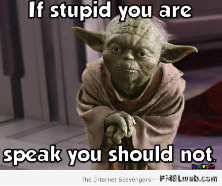 If stupid you are Yoda meme at PMSLweb.com