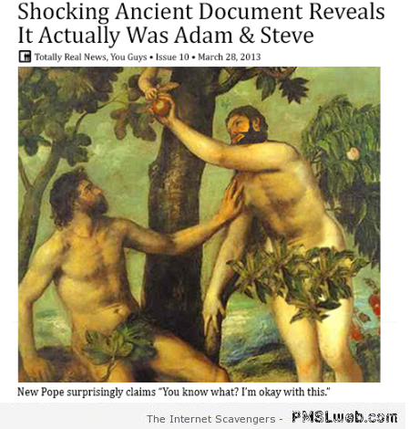 It actually was Adam and Steve humor at PMSLweb.com
