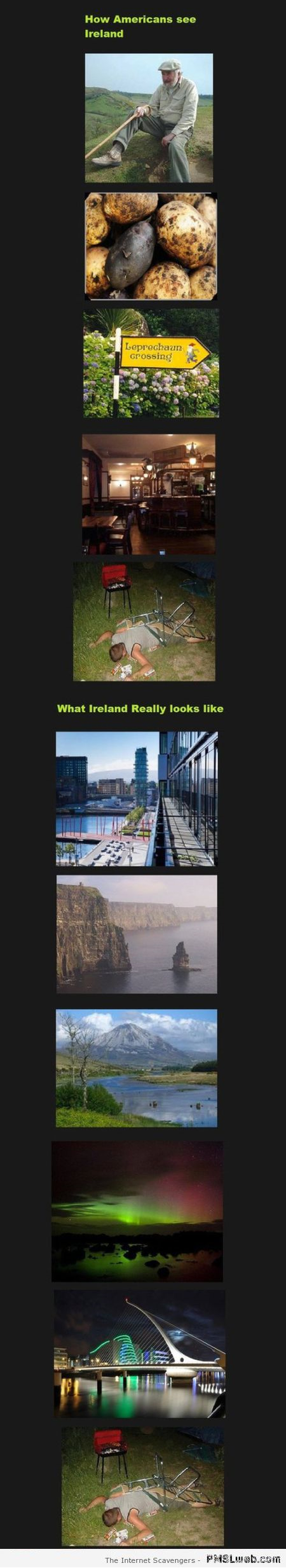 How Americans see Ireland humor at PMSLweb.com