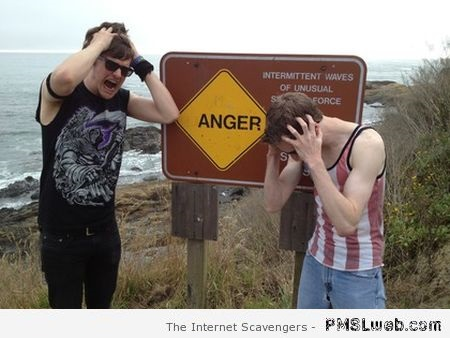 Anger sign humor – Hump day BS at PMSLweb.com