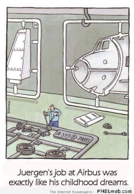 Funny Airbus cartoon – Wednesday funnies at PMSLweb.com
