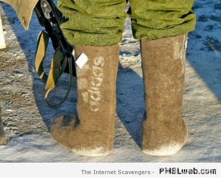 Funny Russian Adidad boots at PMSLweb.com