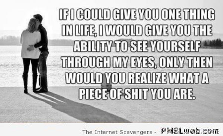 If I could give you one thing in life sarcastic quote at PMSLweb.com