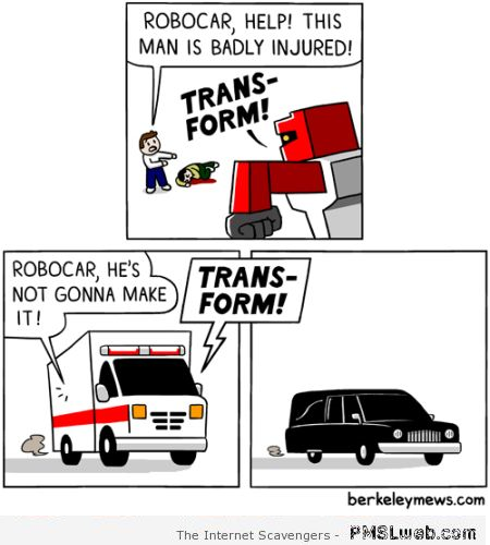 Funny transformers cartoon at PMSLweb.com