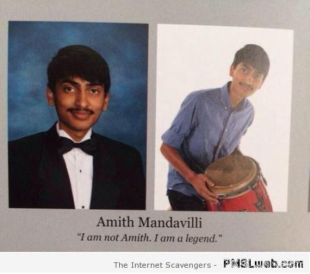 Funny Amith year book quote at PMSLweb.com