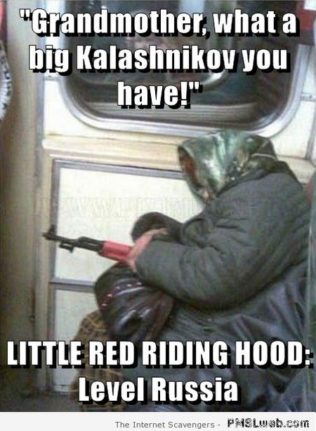 Little red riding hood level Russia meme at PMSLweb.com