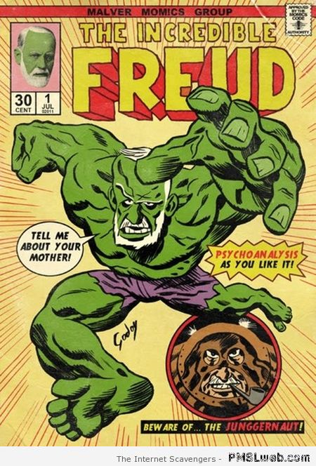 The incredible Freud funny comic at PMSLweb.com