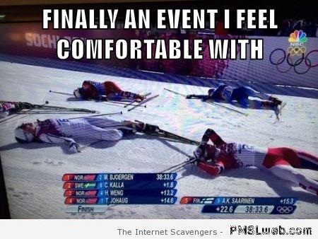 Found an Olympic event for me meme at PMSLweb.com