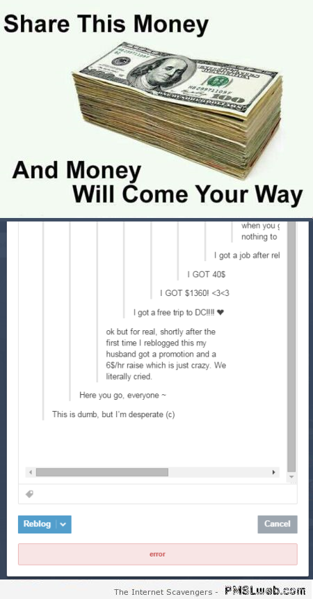 Share this money humor at PMSLweb.com