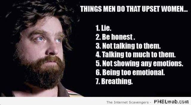 Things men do that upset women humor – Rollicking Friday at PMSLweb.com