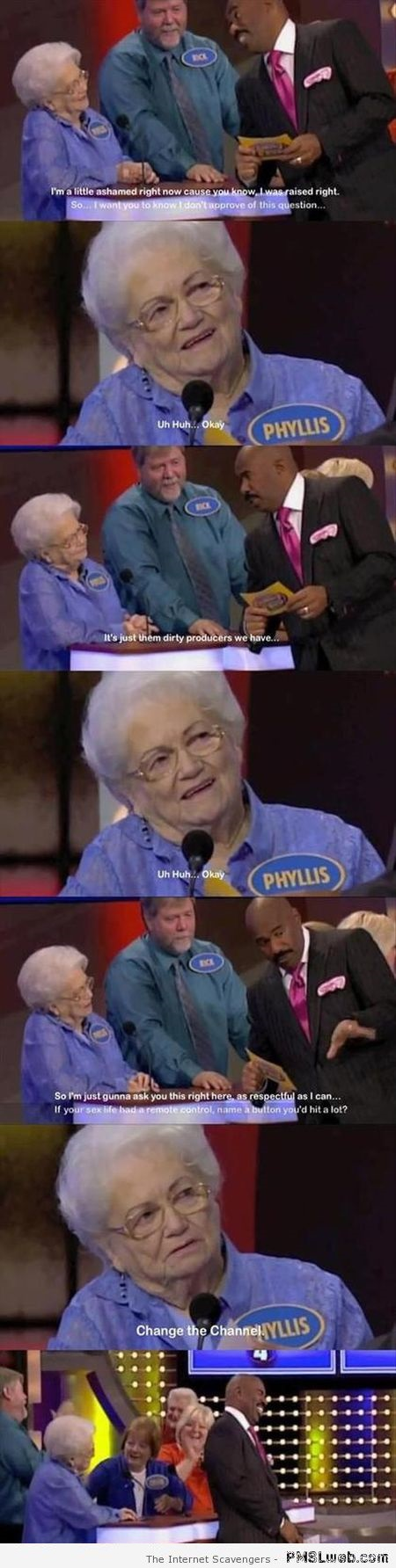 Funny old lady on family Feud at PMSLweb.com