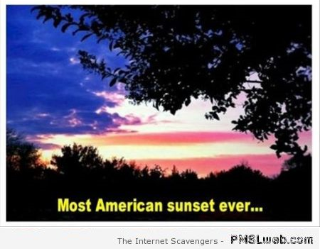 Most American sunset ever at PMSLweb.com