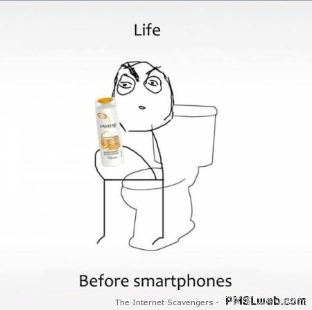 Funny in the toilet before smartphones at PMSLweb.com