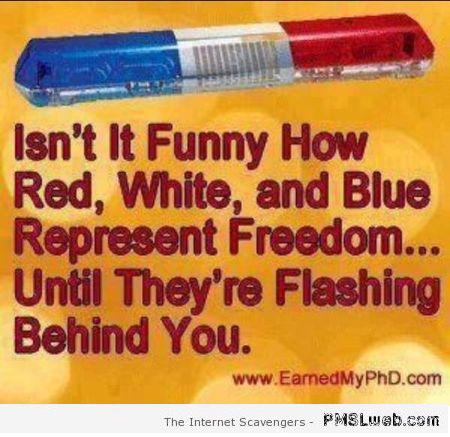 Funny red, white and blue American freedom quote at PMSLweb.com