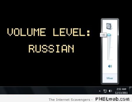 Funny volume level Russian at PMSLweb.com