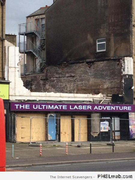 The ultimate laser adventure fail at PMSLweb.com
