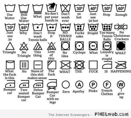 Funny laundry instructions – Weekend guffaws at PMSLweb.com