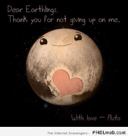 Pluto thanks you for not giving up on him at PMSLweb.com