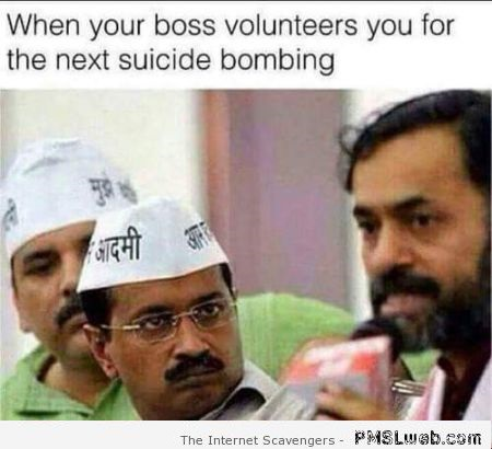 Suicide bombing humor at PMSLweb.com