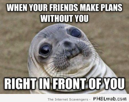 When your friends make plans without you meme at PMSLweb.com