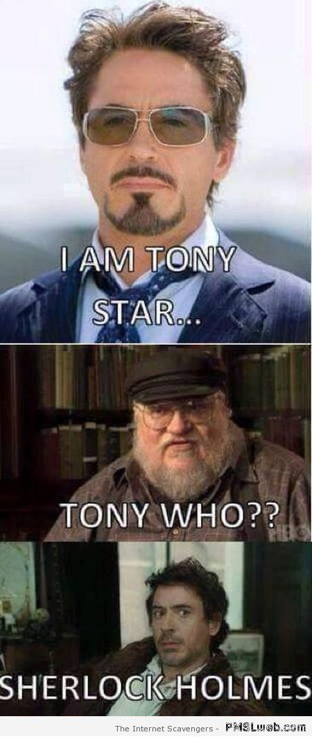 Funny Tony Stark and George RR Martin at PMSLweb.com