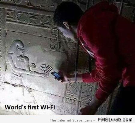 Funny world's first wifi at PMSLweb.com