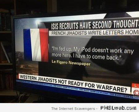 Isis recruits have second thoughts humor
