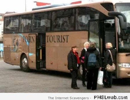 Funny porn tourist bus fail at PMSLweb.com