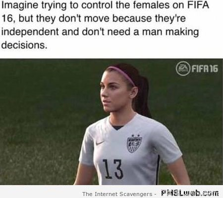 Funny sexist FIFA 16 comment at PMSLweb.com