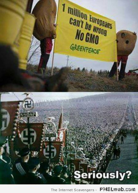 Greenpeace slogan versus world war 2 humor at PMSLweb.com