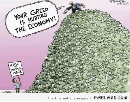 Funny economy truth cartoon at PMSLweb.com