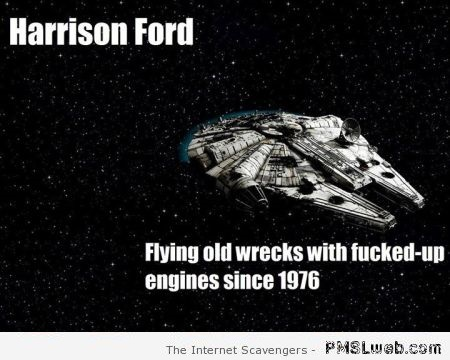 Funny Harrison Ford flight meme at PMSLweb.com
