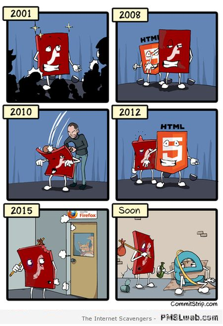 Funny adobe flash cartoon at PMSLweb.com