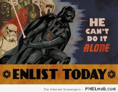 Enlist today funny vader propaganda at PMSLweb.com