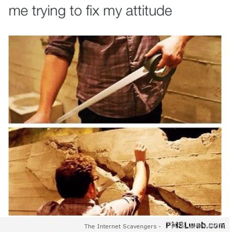 Me trying to fix my attitude humor - LOL pictures at PMSLweb.com