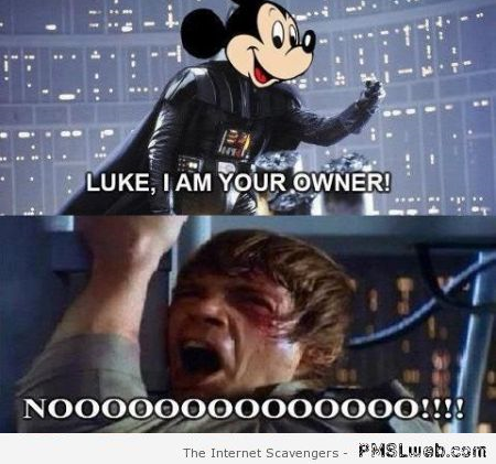 Funny Mickey Mouse and Luke skywalker meme